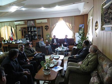 جلسه مشترک مدیر کل هواشناسی و رئیس سازمان جهاد کشاورزی خراسان شمالی با موضوع طرح توسعه هواشناسی کاربردی